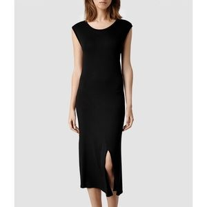 All Saints Velo Vi Sleeveless Midi Slit Dress 8
